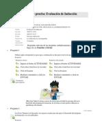 Evaluacion de Induccion Curso Herramientas NTIC Aplicadas a La Formacion