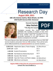 2015 CBR Research Day Flyer