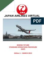 B737 SOP Japan Airlines