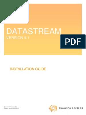 Datastream Installation Guide | Installation (Computer Programs