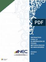 Instructivo Elaboraci%F3n de Ficha de Indicadores INEC