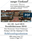 Brocante Breitfeldstrasse 39/41, 24.+25. April 2015