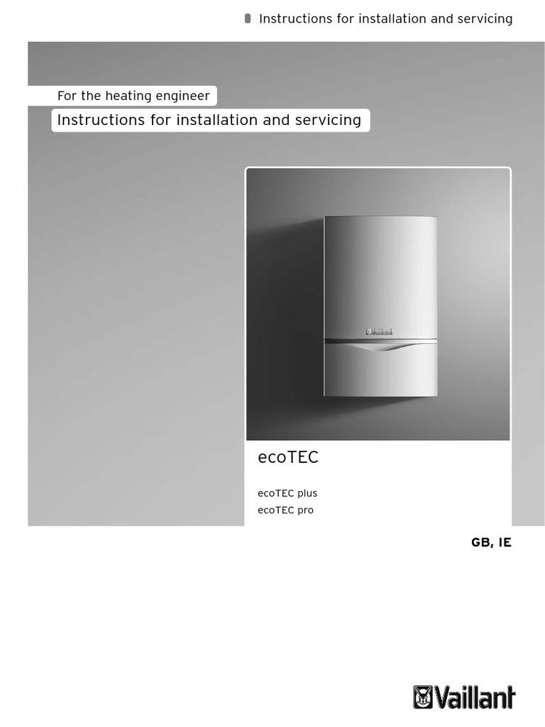 Vaillant Ecotec Plus Manual >> Vaillant Ecotec Plus Installation Manual | Water Heating ...