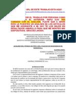 Codigo de Etica Del Ingeniero Con Analisis de Articulos en Forma Ordenada y Coherente