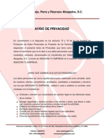 AVISO DE PRIVACIDAD ASESORA TU EMPRESA