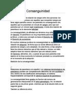 Derecho Ecuador Consanguinidad