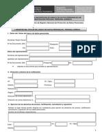 Formulario Registro Persona Juridica