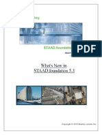 What's New in STAAD.foundation 5.3