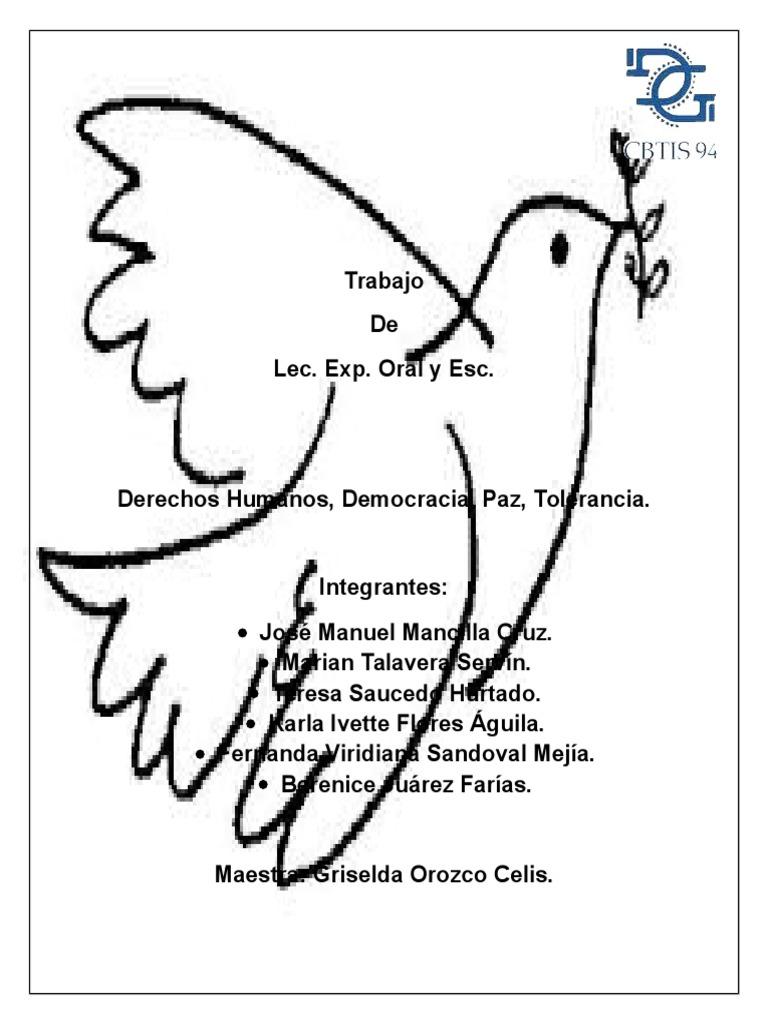 Derechos humanos, Democracia, Paz, Tolerancia