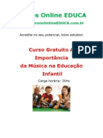 A importância da música na Educação Infantil