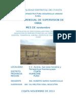 Caratula Informe de Supervision