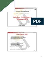 Tema 3 Apéndice. Instrucciones y Directivas MIPS
