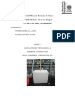 calibracion de un calorimetro