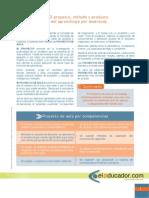 El Proyecto, método y Producto Del Aprendizaje