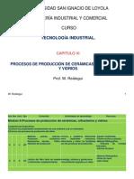 Procesos de Produccion de Cerámicas, Refrectarios y Vidrios