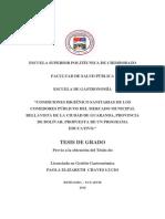 CONDICIONES HIGIÉNICO SANITARIAS DE COMEDORES