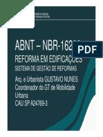 Apresentação Arqº Gustavo Nunes
