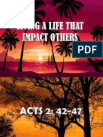 Living a Life That Impact Others