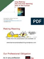 K-6 Northern Nevada Teachers Presentation Making Meaning