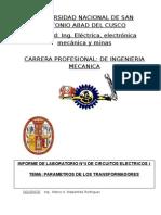 Informe de Laboratorio de Circuitos Eléctricos I