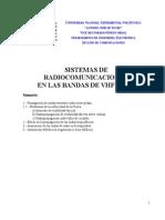 SISTEMAS DE RADIOCOMUNICACIONES  EN LAS BANDAS DE VHF Y UHF
