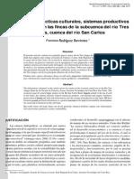 Uso Del Suelo, Prácticas Culturales, Sistemas Productivos y Sostenibilidad en Las Fincas de La Subcuenca Del Río Tres Amigos, Cuenca Del Río San Carlos