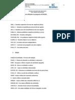 Resumo dos comandos mais utilizados AutoCad