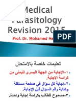 Parasitology Revision 2015