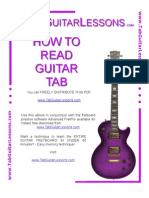 How to Read Guitar Tablature.