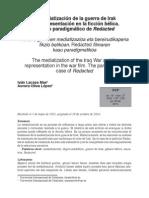 Lacasa (2014) La mediatización de la guerra de Irak y su representaciòn en la ficción bélica