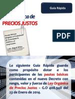 Guia Rapida Ley Precios Justos 2014 Colegio de Contadores