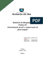 RELATÓRIO 03 - Efeito Tampão e pH