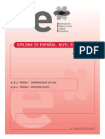 Comprensión de Lectura y Expresión Escrita Español Para Extranjeros