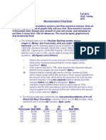 Macroeconomics Final Exam Fall 2014