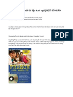 Học Tiếng Pháp Với Tài Liệu Anh Ngữ