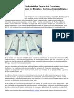 Bombas Y Valvulas Industriales Productos Quimicos, Suministro De Equipos De Bombeo, Valvulas Especializadas Y Filtro