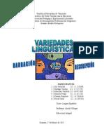 TRABAJO Variedades Linguisticas