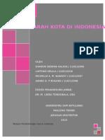 Tahapan Perkembangan Kota Di Indonesia