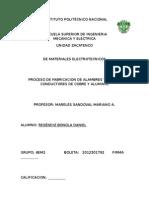 PROCESO DE FABRICACION DE ALAMBRES Y CABLES CONDUCTORES DE COBRE Y ALUMINIO