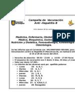 Campaña de Vacunación Hepatitis B
