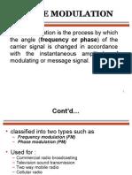 Angle Modulation Frequency Modulation