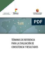 TdR para la Evaluación de Consistencia y Resultados