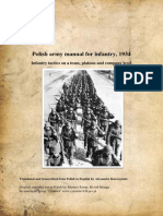 Polish Infantry Tactics on Team Platoon and Company Level
