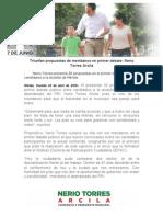 23-04-2015 Triunfan Propuestas de Meridanos en Primer Debate- Nerio Torres Arcila