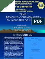RESIDUOS CONTAMINANTES DE LA INDUSTRIA DE CUEROS