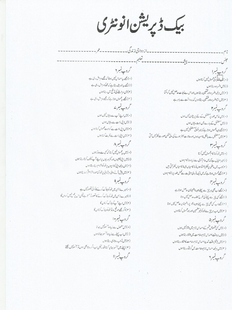 BDI Urdu