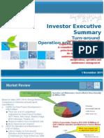 Turn Arround Maintainance Investor 4Dec11