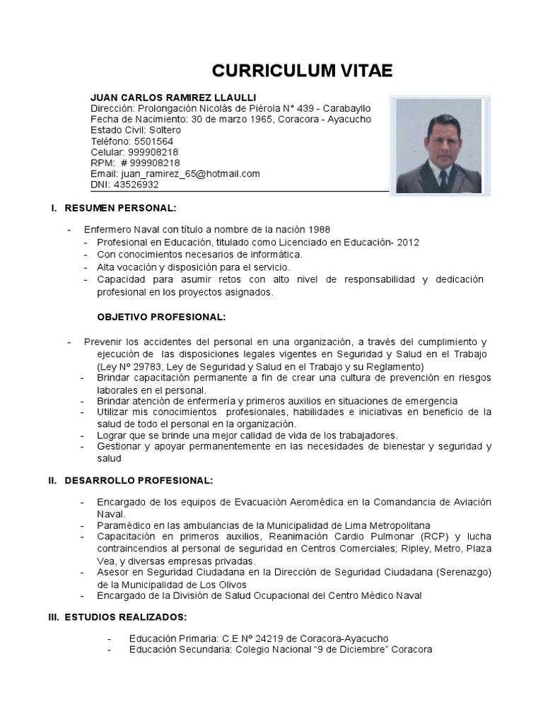 Moderno Objetivo En El Curriculum Vitae Necesario Imagen - Ejemplo ...