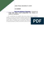 Hindustan Times -Draft Distance Education Council Bill
