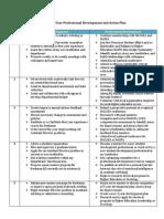 5 year professional development plan